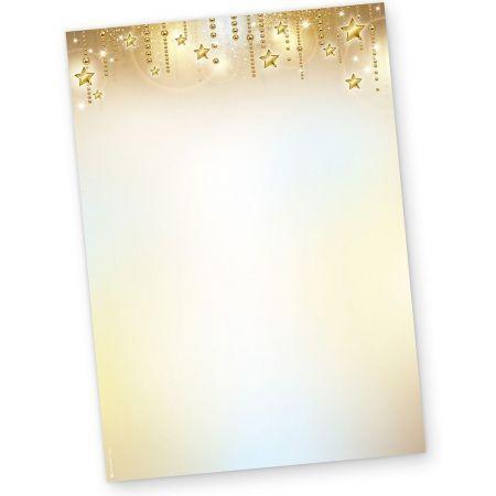 Briefpapier Weihnachten STARDREAMS (50 Blatt)  elegant bedruckbar