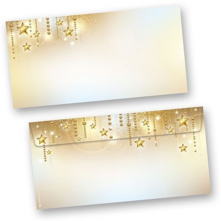 Briefumschläge Weihnachten STARDREAMS (50 Stück ohne Fenster)  elegant bedruckbar