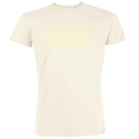T-Shirt schwäbisch lustig Spätzle Vintage Weiß Größe L, 100% Bio-Baumwolle