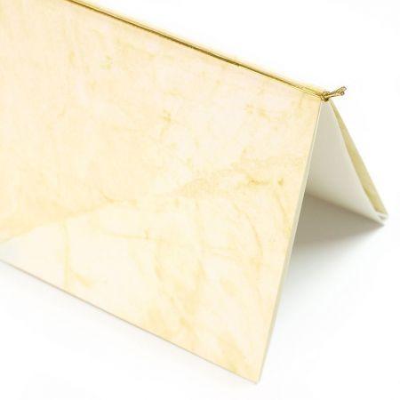 Gummibänder Gold für Klappkarten, Einladungskarten (50 Bänder) Gummischnüre