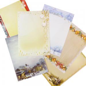 Briefpapier Mix Weihnachten WM02 6 x 10 Blatt, Briefpapiersammlung gemischt mit unseren beliebtesten Weihnachtsmotiven