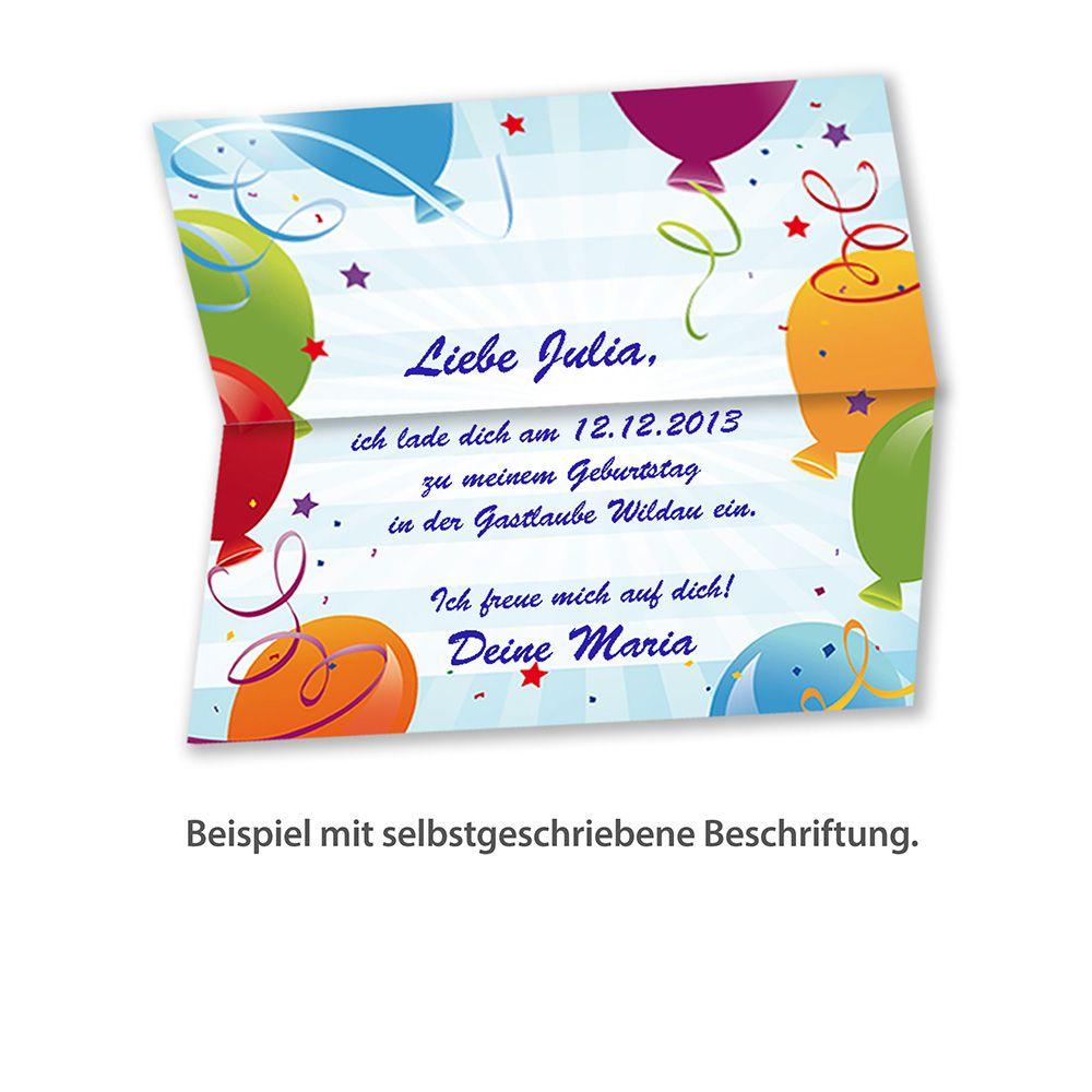 einladungskarten kindergeburtstag (10 sets mit umschläge