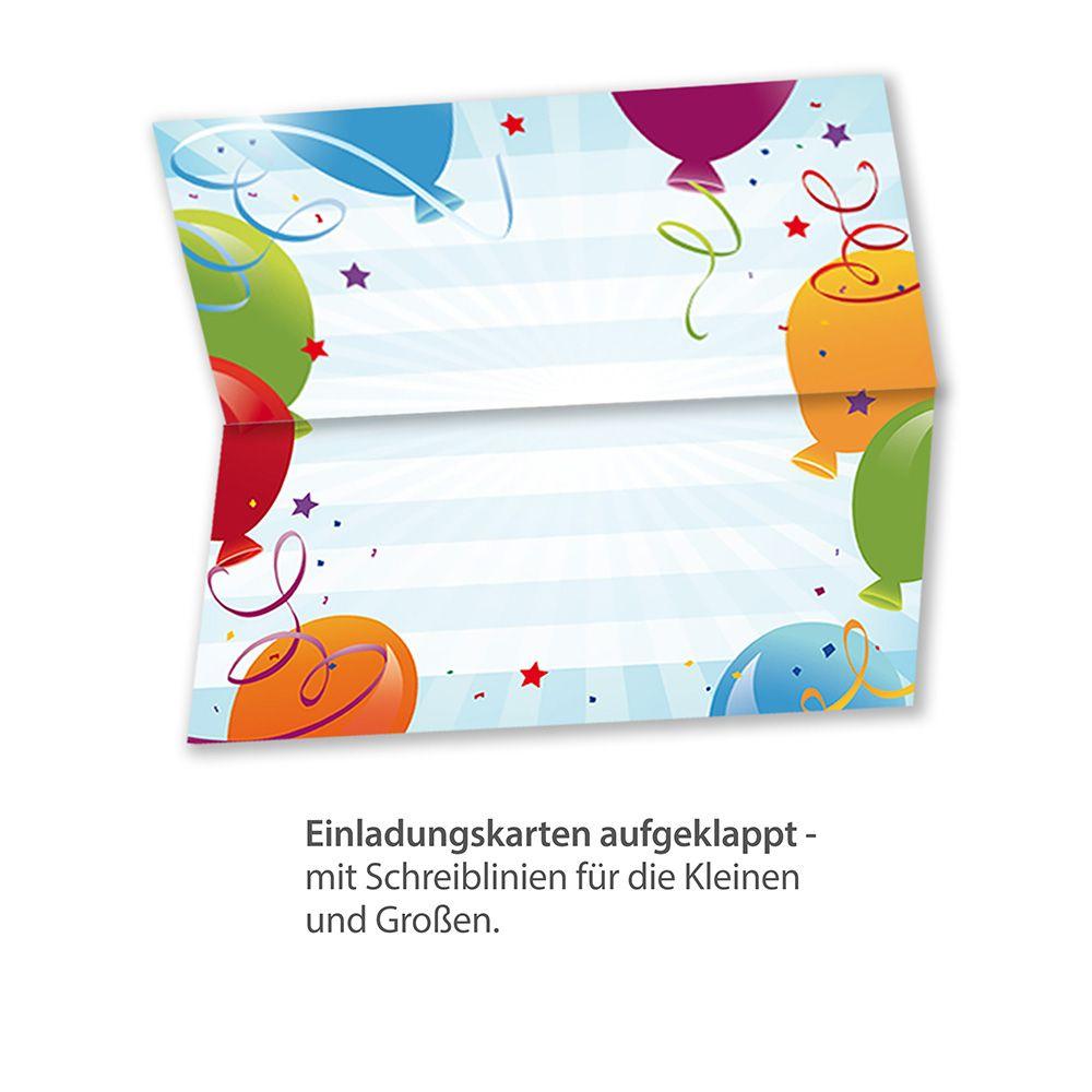 Einladungskarten Kindergeburtstag (10 Sets Mit Umschläge) : Tatmotive.de:  Einladungskarten
