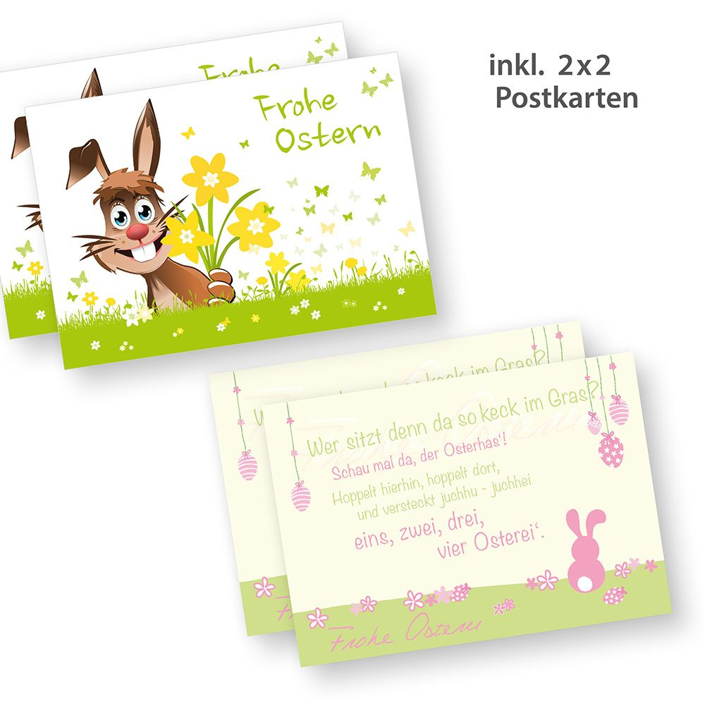 Osterpapier mit Osterhase 1seitig 50 Stück Briefpapier, Briefbogen ...