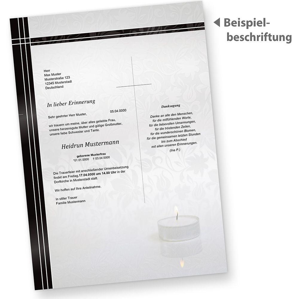 Briefpapier Trauer 1000 Stück Din A4 Schwarzer Trauerrand Din A4