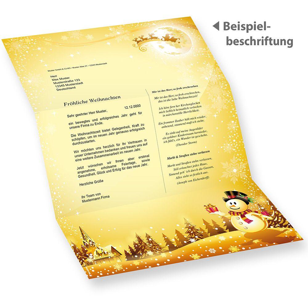 Briefpapier Weihnachten Gelb Firmen Kaufen 250 Blatt Din A4