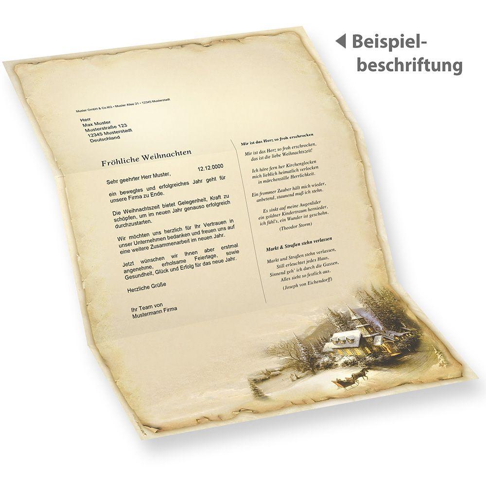Briefbogen Winteridylle 1.000 Blatt hochwertig Geschäft Vordrucke