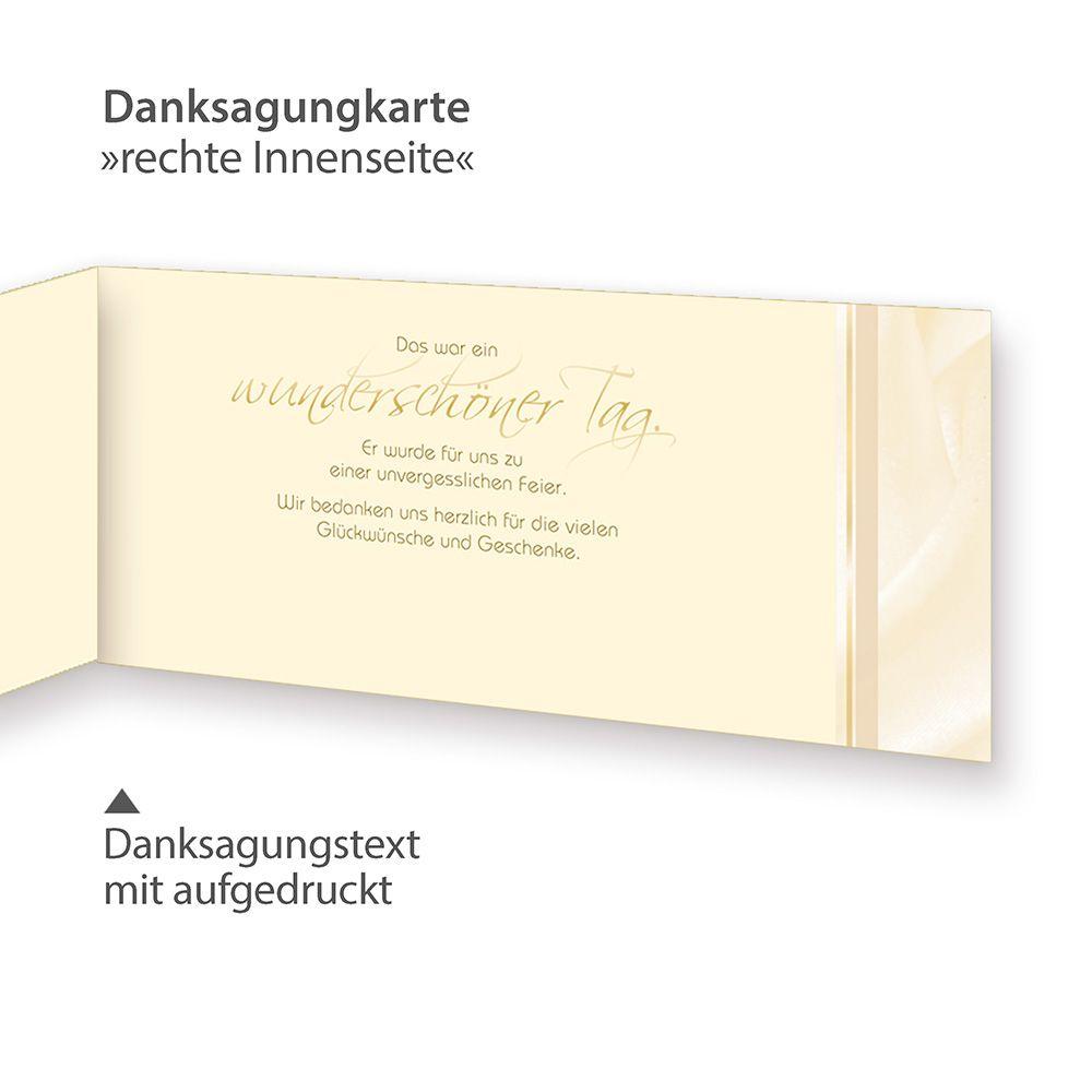 Dankeskarten Hochzeit Vintage Perlmutt 40 Sets Danksagungskarten
