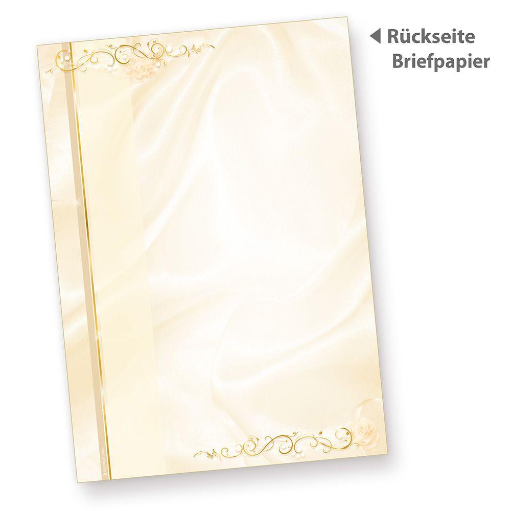 Briefbogen Hochzeit perlmutt 1.000 Blatt A4 für Hochzeitszeitung Kirche