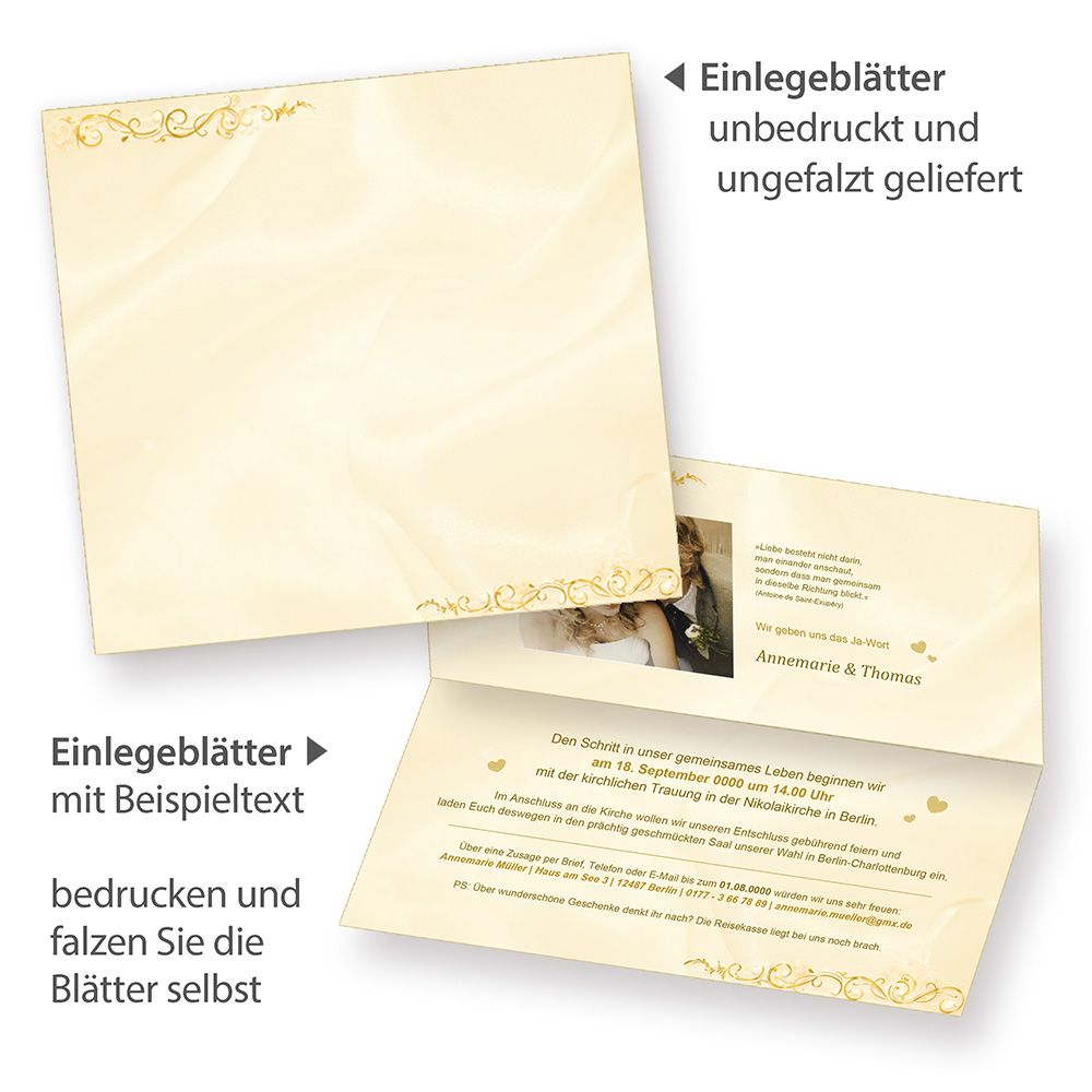 Einladungskarten Hochzeit Perlmutt 10 Sets Hochzeitskarten Vintage Einladung
