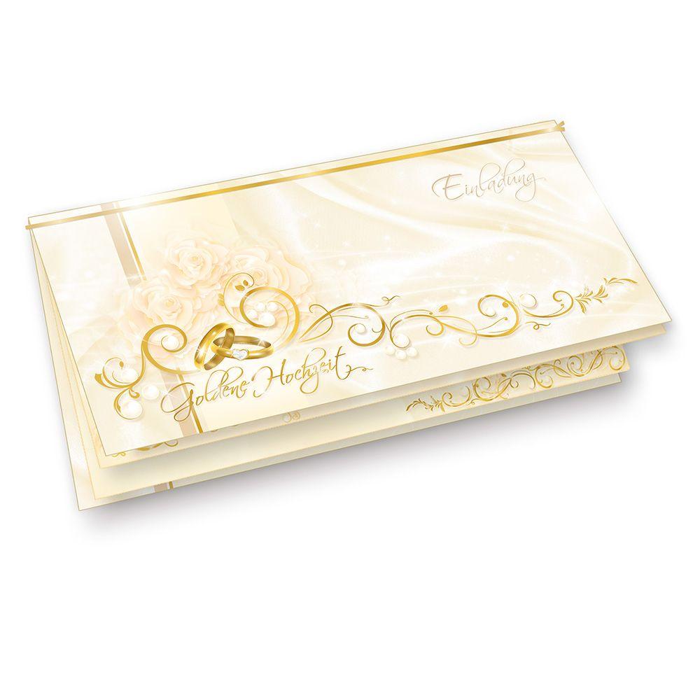 hochzeitskarten goldene hochzeit 40 karten einladung goldhochzeit. Black Bedroom Furniture Sets. Home Design Ideas