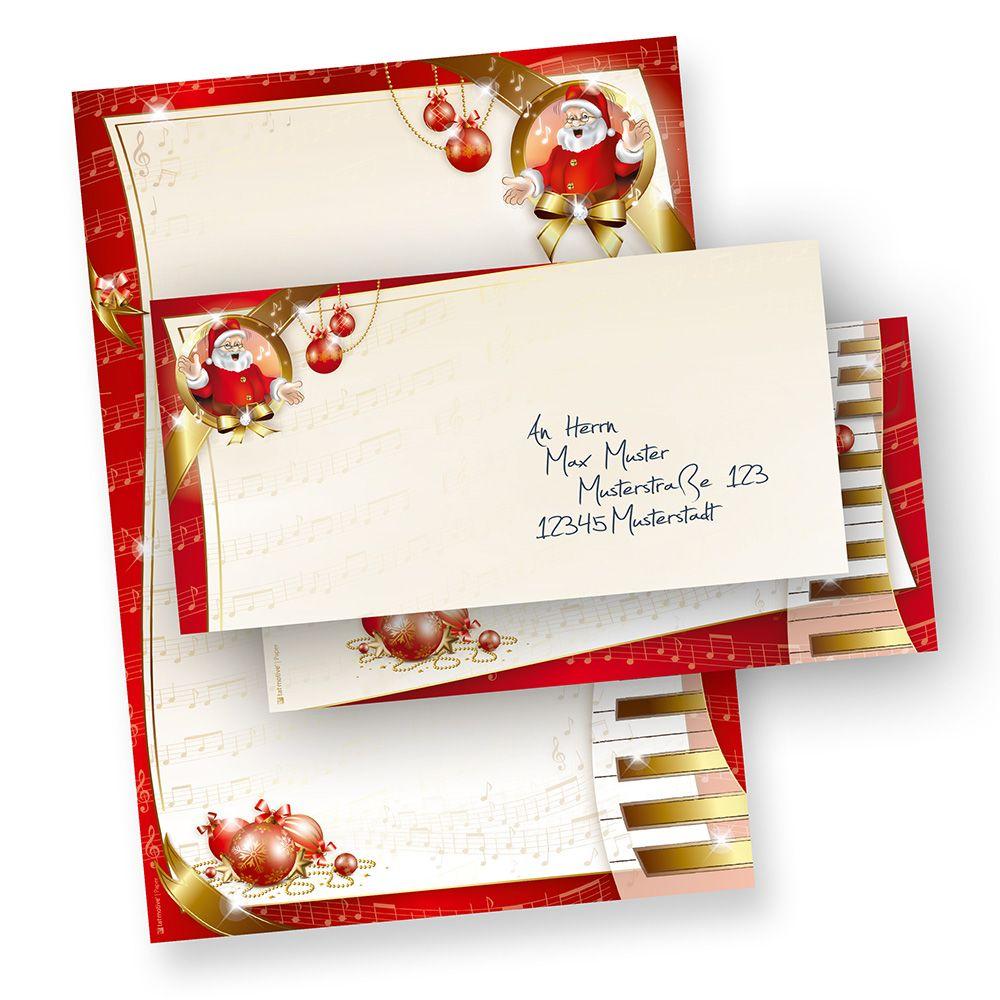 Weihnachtsbriefpapier Musik 250 Sets Of Briefpapier Weihnachten