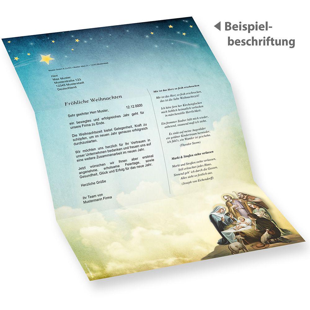 Briefpapier Weihnachten christlich 50 Blatt katholisch