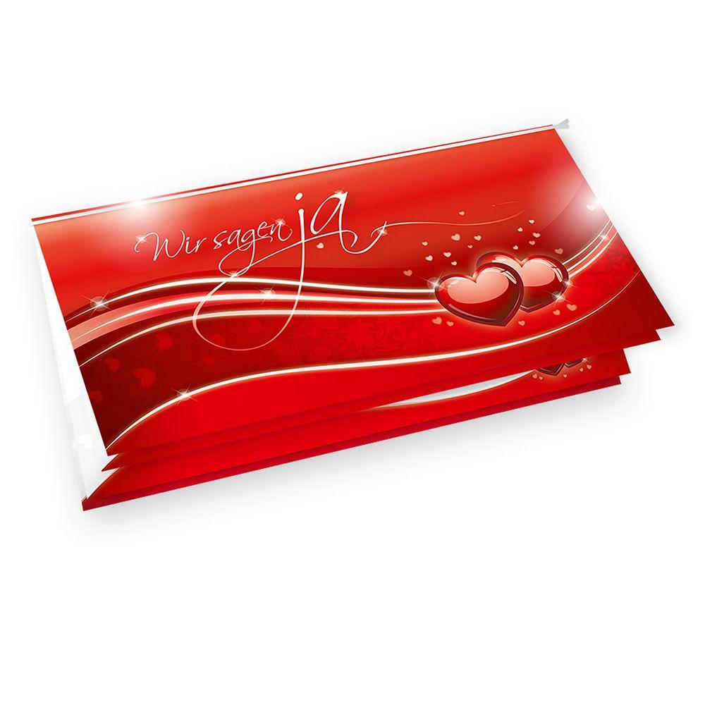 Einladungskarten Hochzeit Günstig Liebe (20 Sets)
