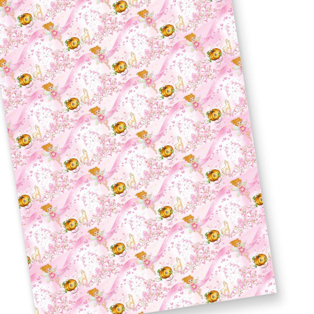 Geschenkpapier Madchen Geburtstag Rosa 10 Bogen Fur Kinder Mit