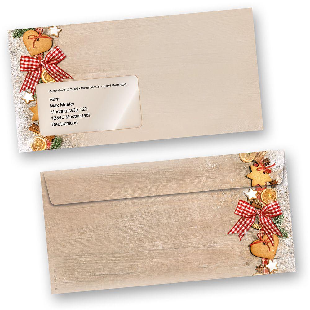 Briefhüllen Landidylle 100 Stück Mf Umschläge Mit Fenster Weihnachten