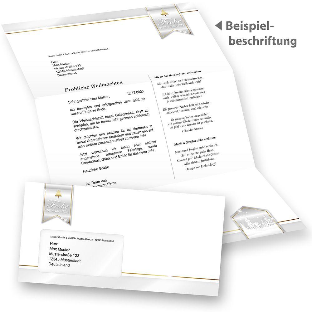 Briefpapier Set Weihnachten Mit Briefumschläge 500 Sets Mf Business