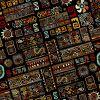 RIO NEGRO Geschenkpapier Retro Schwarz (10+3 Bogen extra) AKTION JETZT 30% MEHR, Bogen 50 x 70 cm Vintage Geburtstag