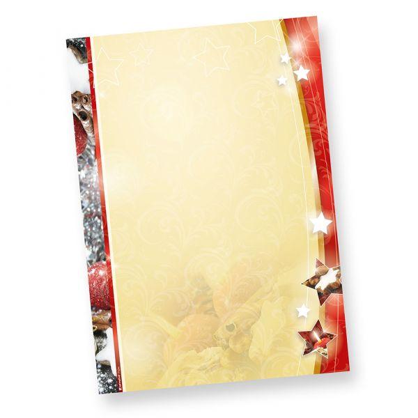Weihnachtsbriefpapier Lebkuchen 2-seitig (20 Stück)  beidseitig DIN A4