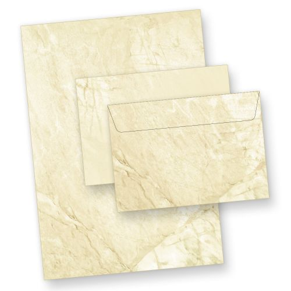 Briefpapier Set Marmor (250 Sets inkl. C6) DIN A4 inkl. Umschläge C6, beidseitig marmoriert