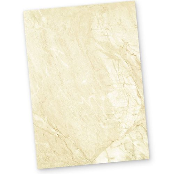 Briefpapier braun marmoriert (50 Blatt) Marmorpapier DIN A4 beidseitig