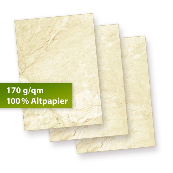 Karton Marmor A5 (250 Blatt) 170 g/qm Beidseitig braun, Speisekarten Blätter Urkunden-Papier