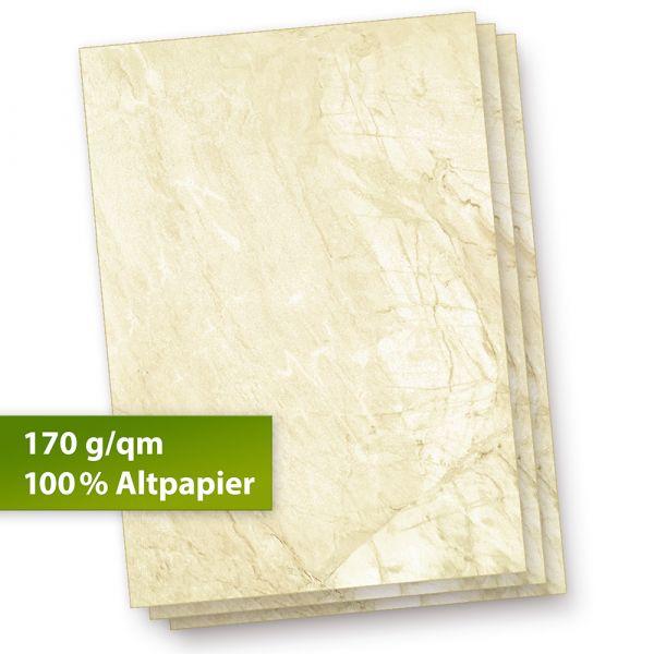 Karton Marmor A4 (100 Stück) 170 g/qm Beidseitig braun, Speisekarten Blätter Urkunden-Papier