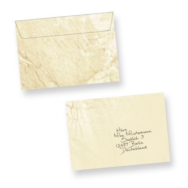 Briefumschläge Marmor C6 (50 Stück)