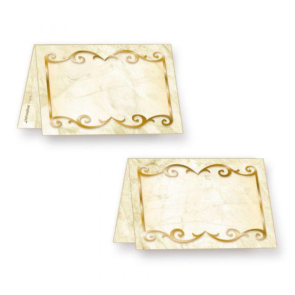 Marmor Tischkarten Feier (100 Stück)