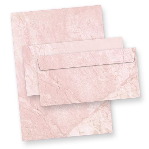 Strukturpapier Set Marmor Rot Vintage (100 Sets mit Umschläge) Marmorpapier DIN A4