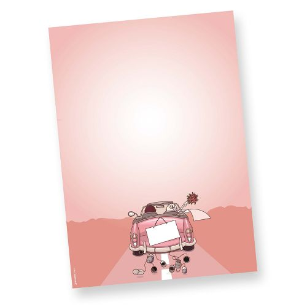 Briefpapier Hochzeit (50 Stück) Motivpapier Design DIN A4