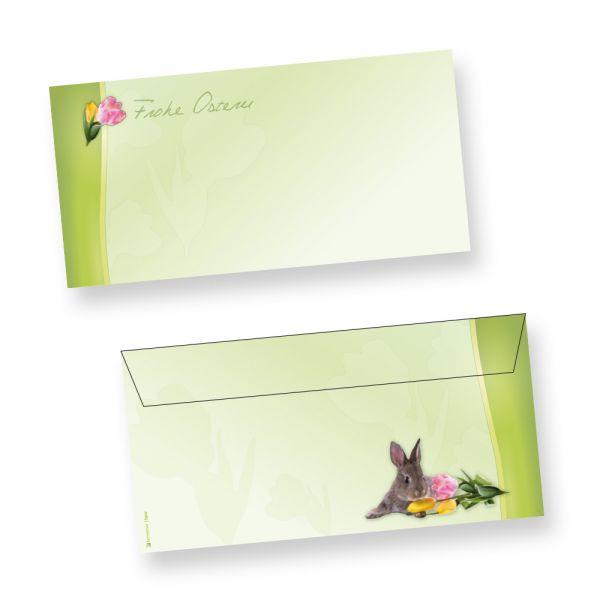 Umschläge DIN lang Osterhase (100 Stück ohne Fenster) Ostern Briefumschläge haftklebend