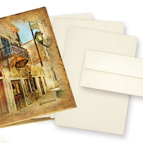 Mappe Büttenpapier Set A4 (24-tlg) mit Wasserzeichen ZERKALL Bütten Briefpapier