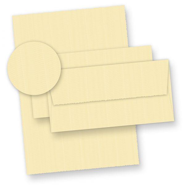 Bütten Briefpapier wildgerippt elfenbein (20 Sets) Briefpapier Bütten