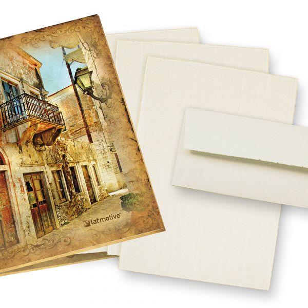 Büttenpapier Set wildgerippt (24-tlg) Briefpapier Bütten