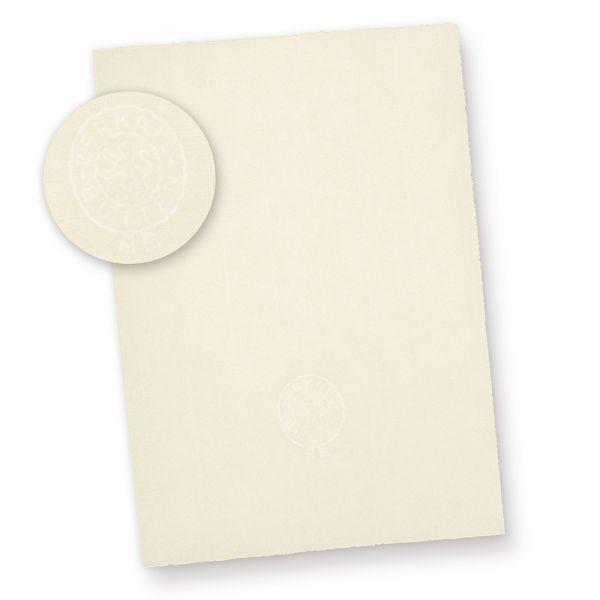 ZERKALL Büttenpapier A4 (50 Blatt) 95 g/qm, A4 210 x 297 mm Bütten Briefpapier mit Wasserzeichen Papier, altweiß
