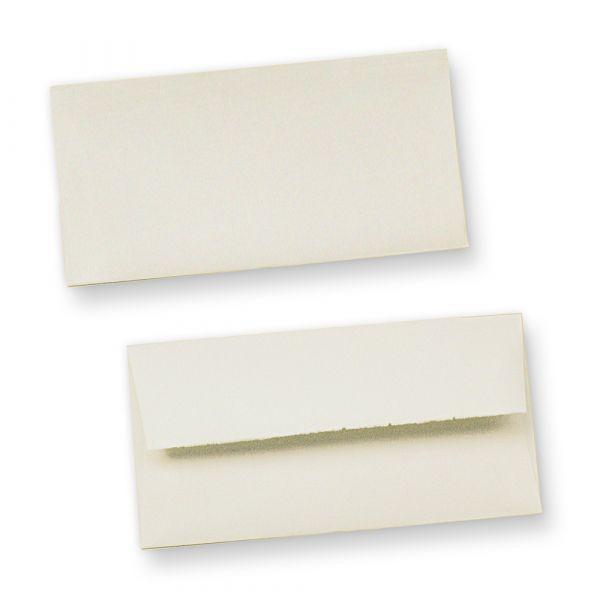 Briefhüllen Bütten wildgerippt (100 Stück) edel hochwertige Briefumschläge Bütten DIN lang, mit Innenfutter und wellenartiger Rippung