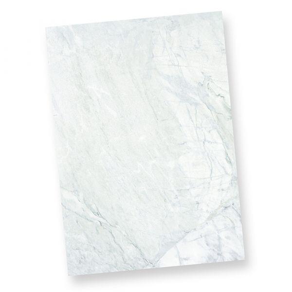 Briefpapier marmoriert grau-blau (50 Stück) Marmorpapier DIN A4 beidseitig