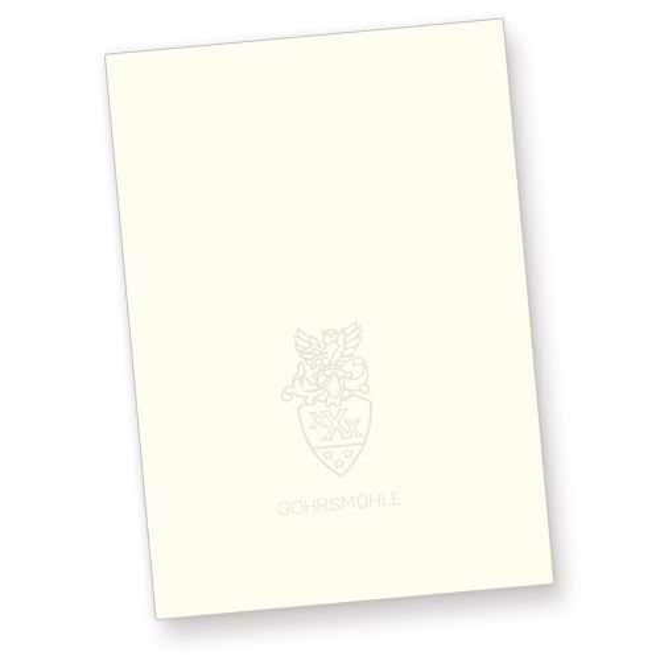 Gohrsmühle 90g Briefpapier (250 Stück) DIN A4 210 x 297 mm, 90 g/qm, mit Wasserzeichen, naturweiß