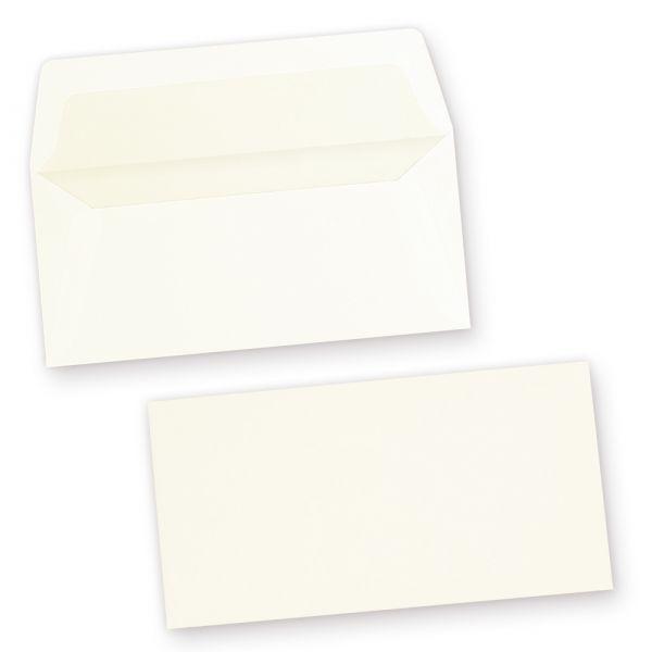 Edle GOHRSMÜHLE Briefumschläge (100 Stück) DIN lang gefüttert mit feinem Innenfutter, Markenumschläge