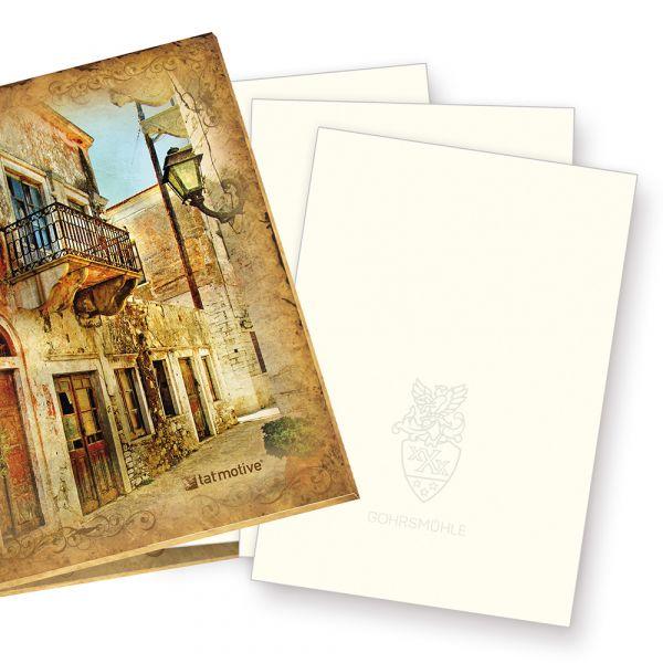 Mappe mit GOHRSMÜHLE Briefpapier (100 Blatt) DIN A4 210 x 297 mm, 90 g/qm, mit Wasserzeichen, naturweiß