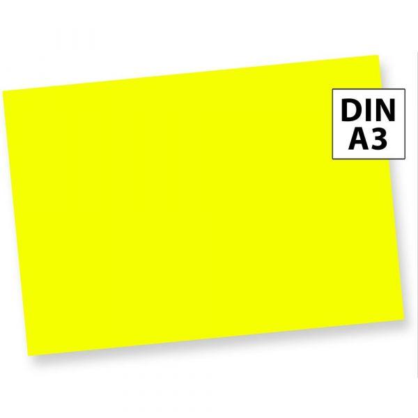 NEON Briefpapier Gelb Leuchtpapier Neonpapier (100 Blatt) DIN A3