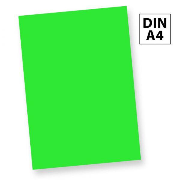 NEON Briefpapier Leuchtpapier Neonpapier Grün (50 Blatt) DIN A4