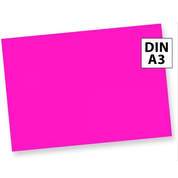 Neonpapier NEON PINK (500 Blatt) DIN A3 80 g/qm farbiges Briefpapier, Leuchtpapier