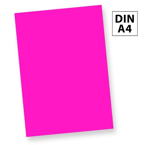 NEON Briefpapier Leuchtpapier Neonpapier PINK (50 Blatt) DIN A4