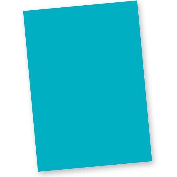 Briefpapier Blau (20 Blatt) DIN A4 120g Tonpapier Bastelpapier