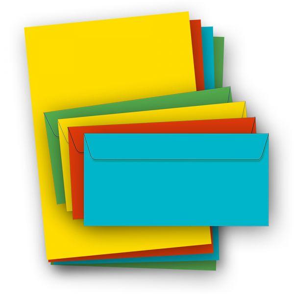 Briefpapier bunt (52-teilig, mit Umschläge)