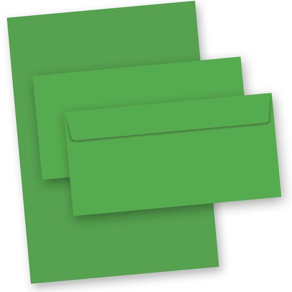 Briefpapier Grün (50-teilig, mit Umschläge)