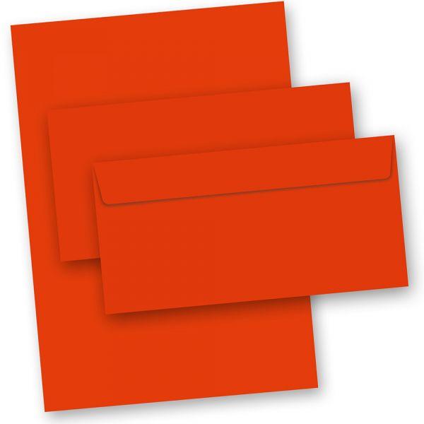 Briefpapier Rot (50-teilig, mit Umschläge)
