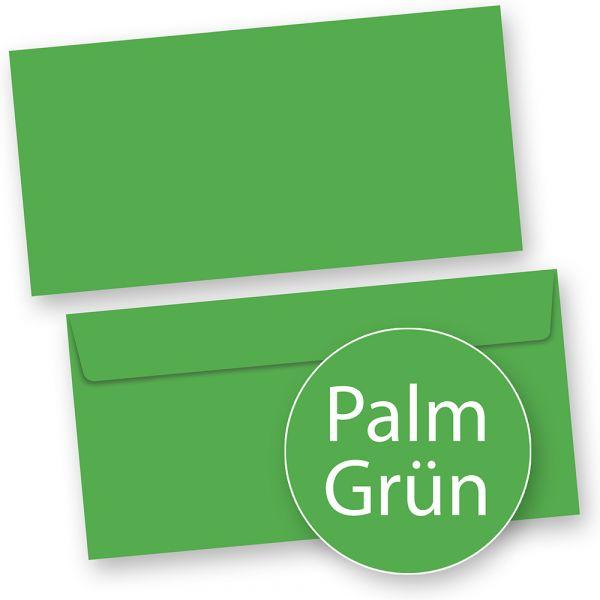 PREMIUM Briefumschläge Grün DIN lang (500 Stück) DIN lang Umschlag farbig, Grün haftklebend mit Haftstreifen